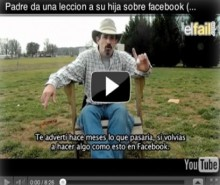 Video: Padre dispara a laptop de su hija, Youtube
